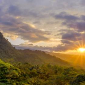Sunrise Illuminating Hill