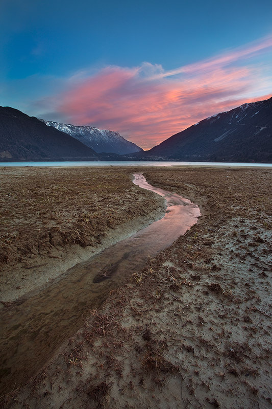 Photograph Flowing to the sunset by Alberto Mattiussi on 500px
