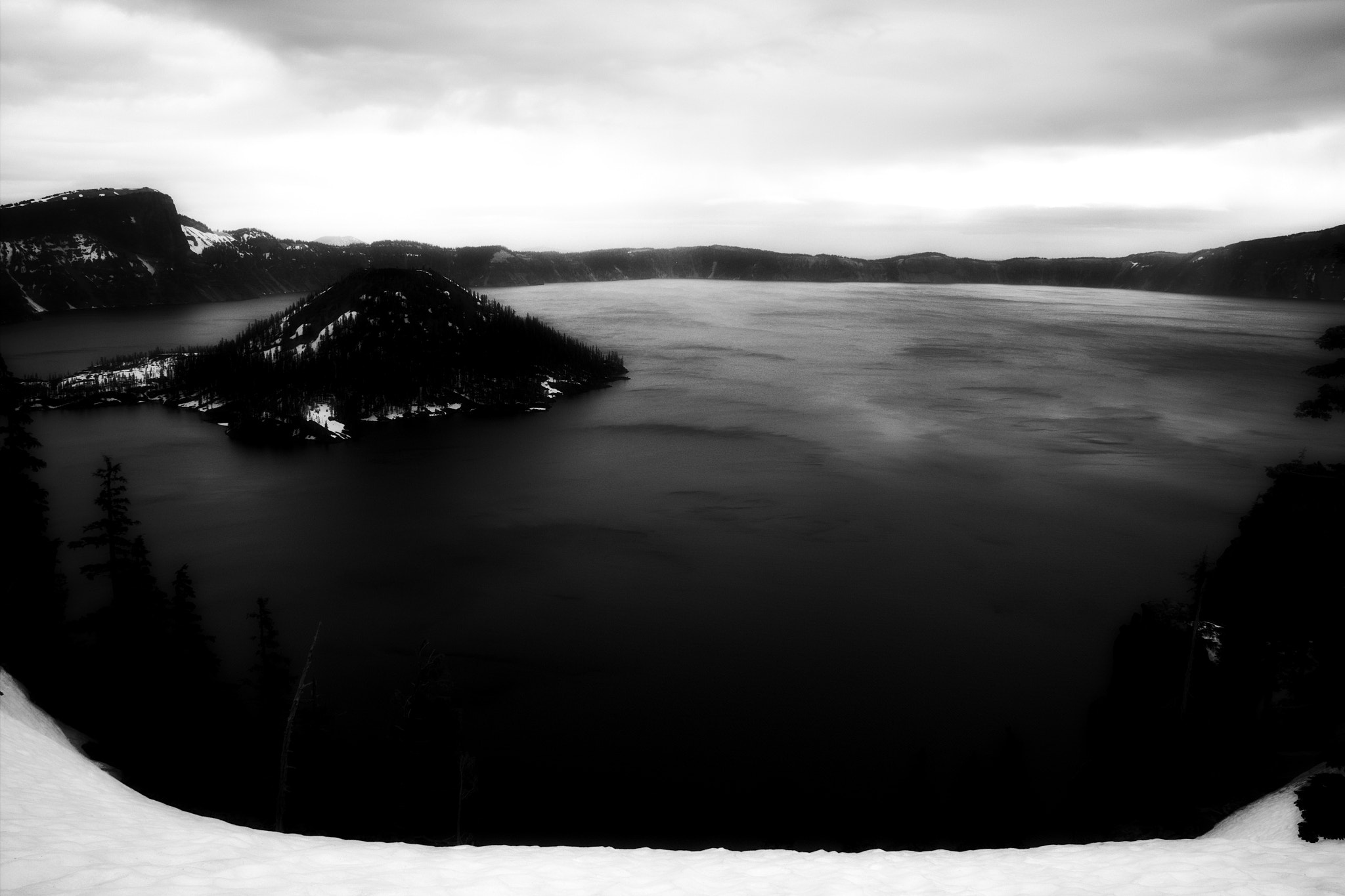 Photograph Crater Lake in Black and White by Kindra Martinenko on 500px