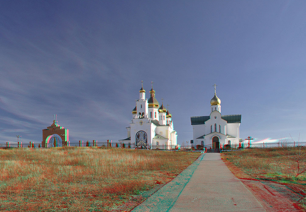 Photograph Anaglyphic Church by ash ... on 500px