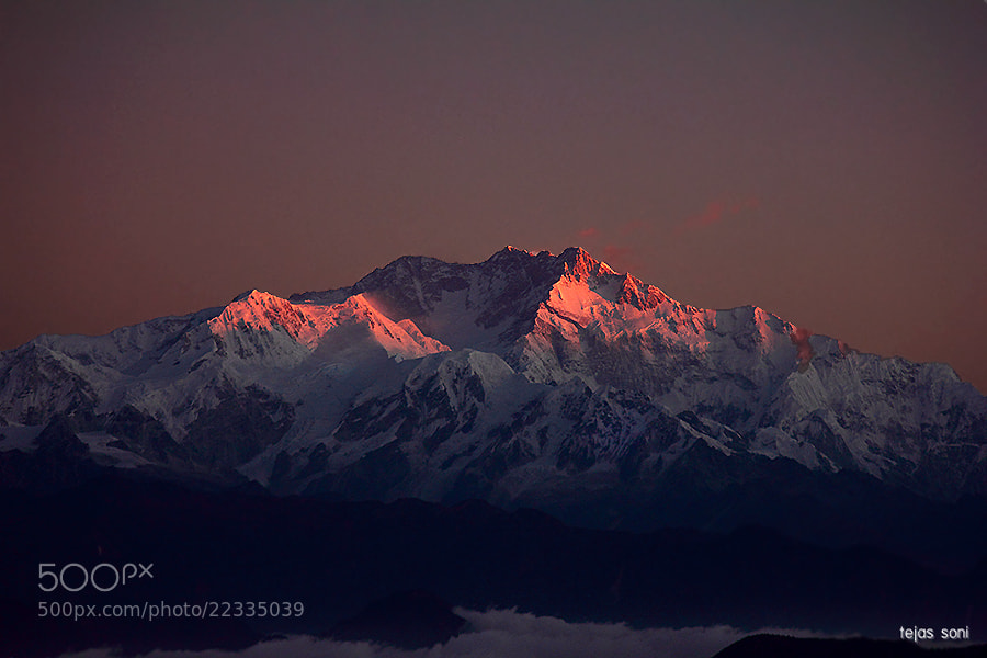 Photograph Mt.kangnchenjunga last light by Tejas Soni on 500px