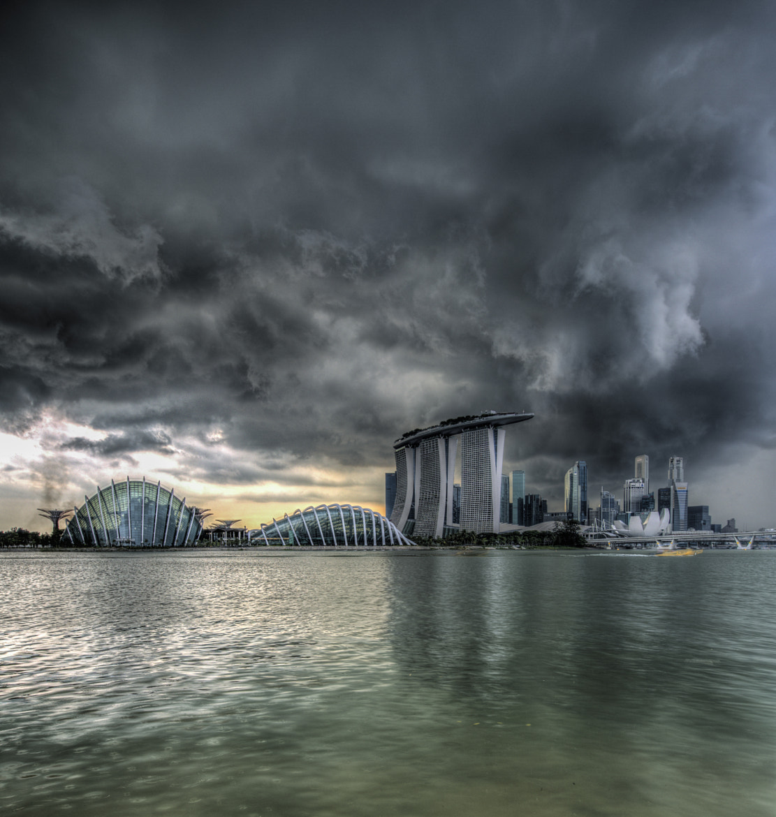 Photograph storm building over singapore by Paul Cowell on 500px