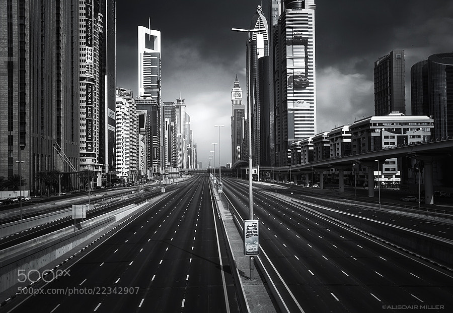 Sheikh Zyed Rd in Dubai with a few cars missing. ;-)