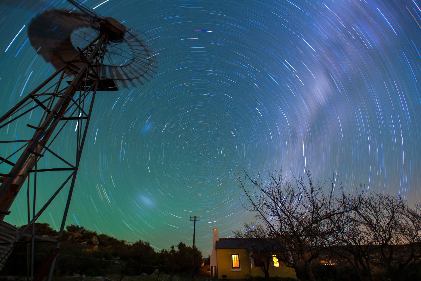 Photograph Startrail Sutherland by Michael Wrankmore on 500px