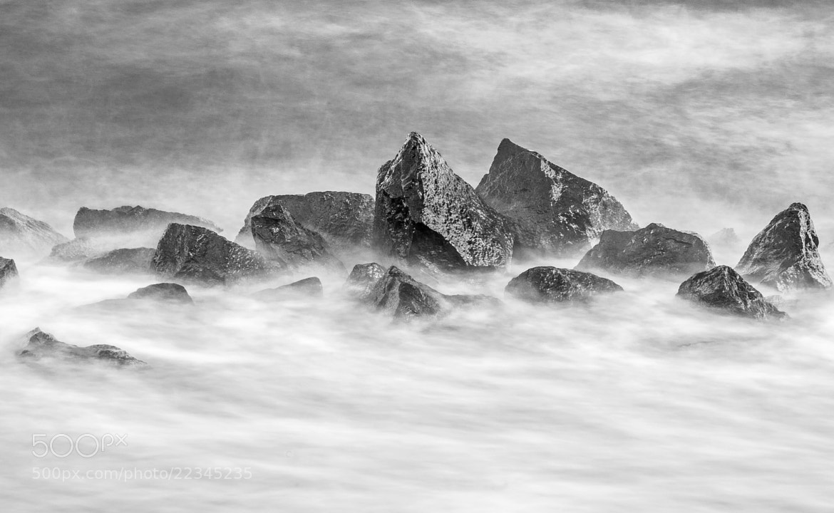 Photograph Washed Rocks by White Waves by Reza Marzooghi on 500px