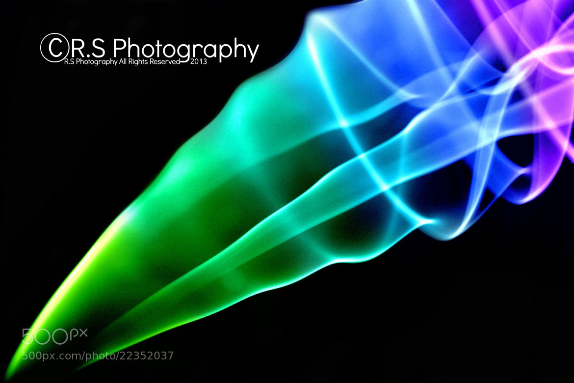 Photograph Green, Blue & Purple Smoke by Ryan Spicknell on 500px