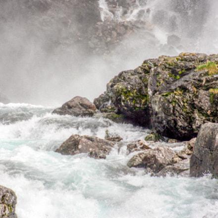 waterfall from the Flåm Railway - Norway