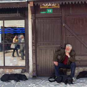 A man with his dogs by Lorenzo Camisassi (lorenzocamisassi)) on 500px.com