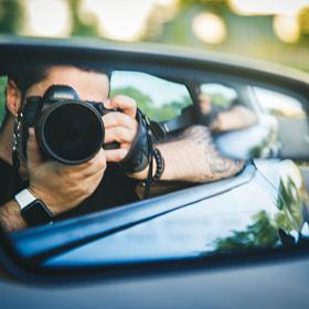 #coche #espejo #camara #conducir #car #mirror #camera #drive #canon #eos5d #mustang #musclecar...