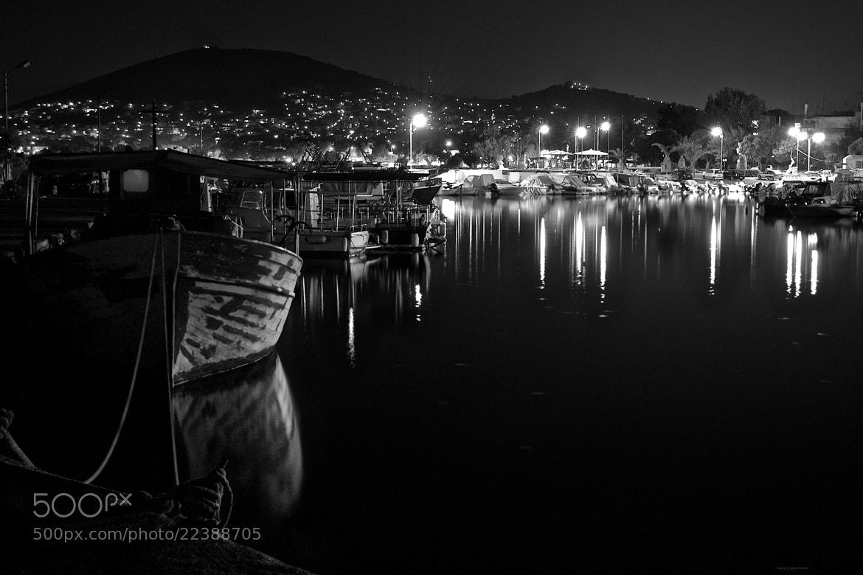 Photograph Night marina by Costas Gountanas on 500px