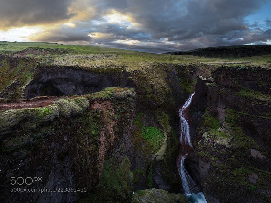 The fall of Fjaðrá