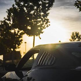 #ford #mustang #coche #deportivo #car #musclecar #fordmustang #v6mustang #atardecer #salamanca...