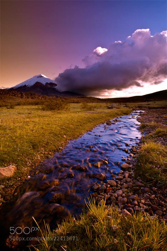 Photograph Cotopaxi Sunset by Fernando Salas on 500px