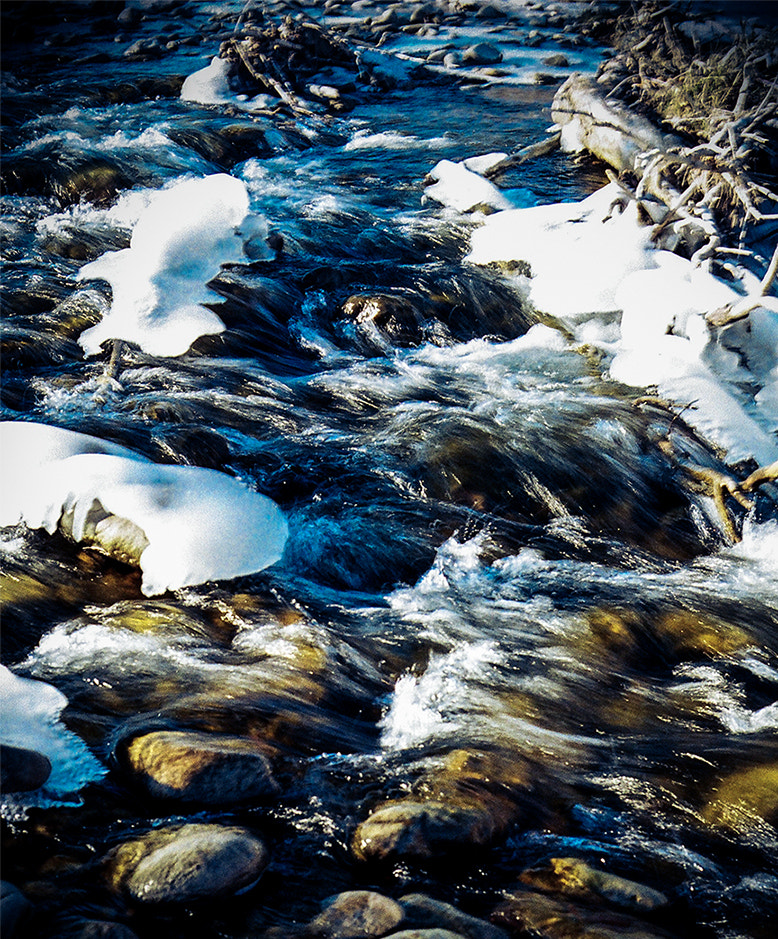Photograph Icy River Rocks by J Michaud on 500px