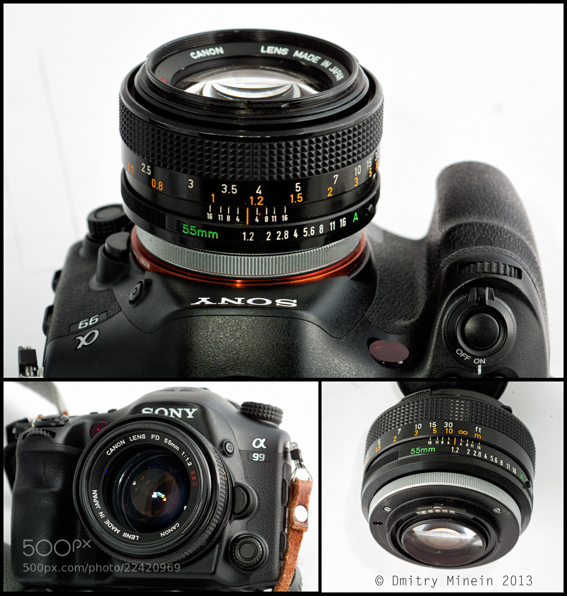 Photograph Canon FD 55/1.2 on A99 Sony by Dmitry Minein on 500px