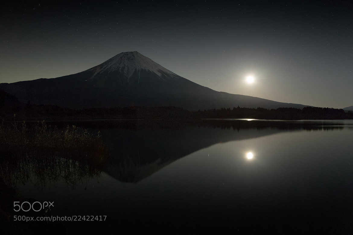 Photograph Moonrise and Mt.Fuji by MIYAMOTO Y on 500px