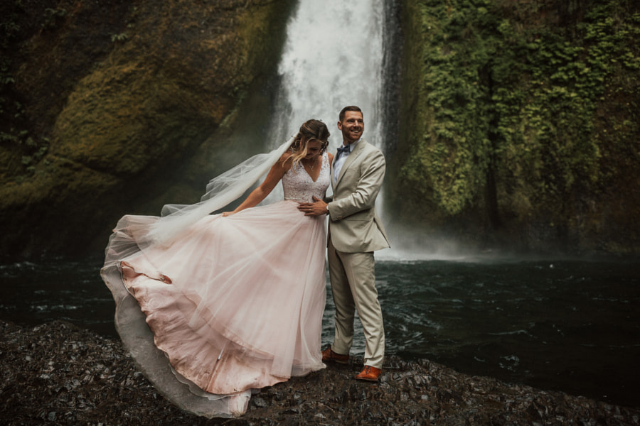 From this morning's wedding underneath a raging waterfall.. by Berty Mandagie on 500px.com