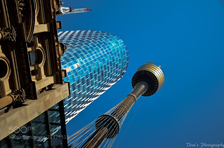 Photograph Sydney Tower in a different perspective by Vinoth Kumar on 500px