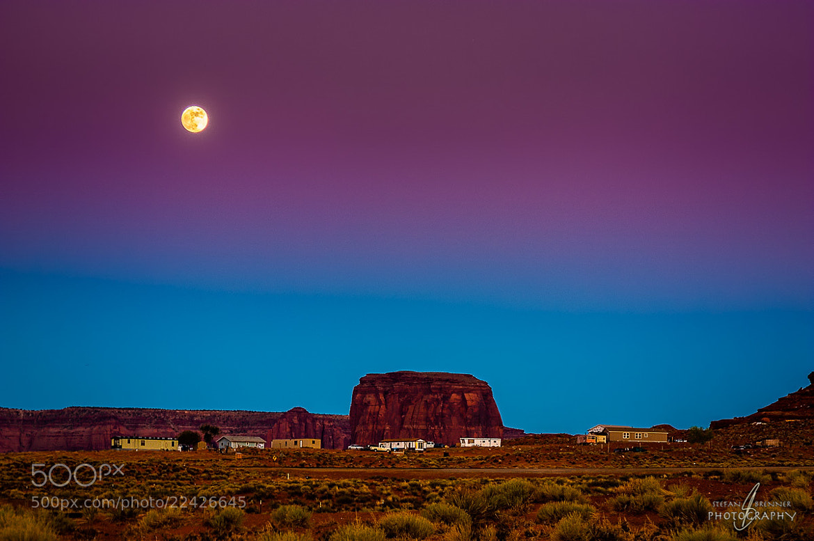 Photograph Moonrise Over Monument Valley II by Stefan Brenner on 500px