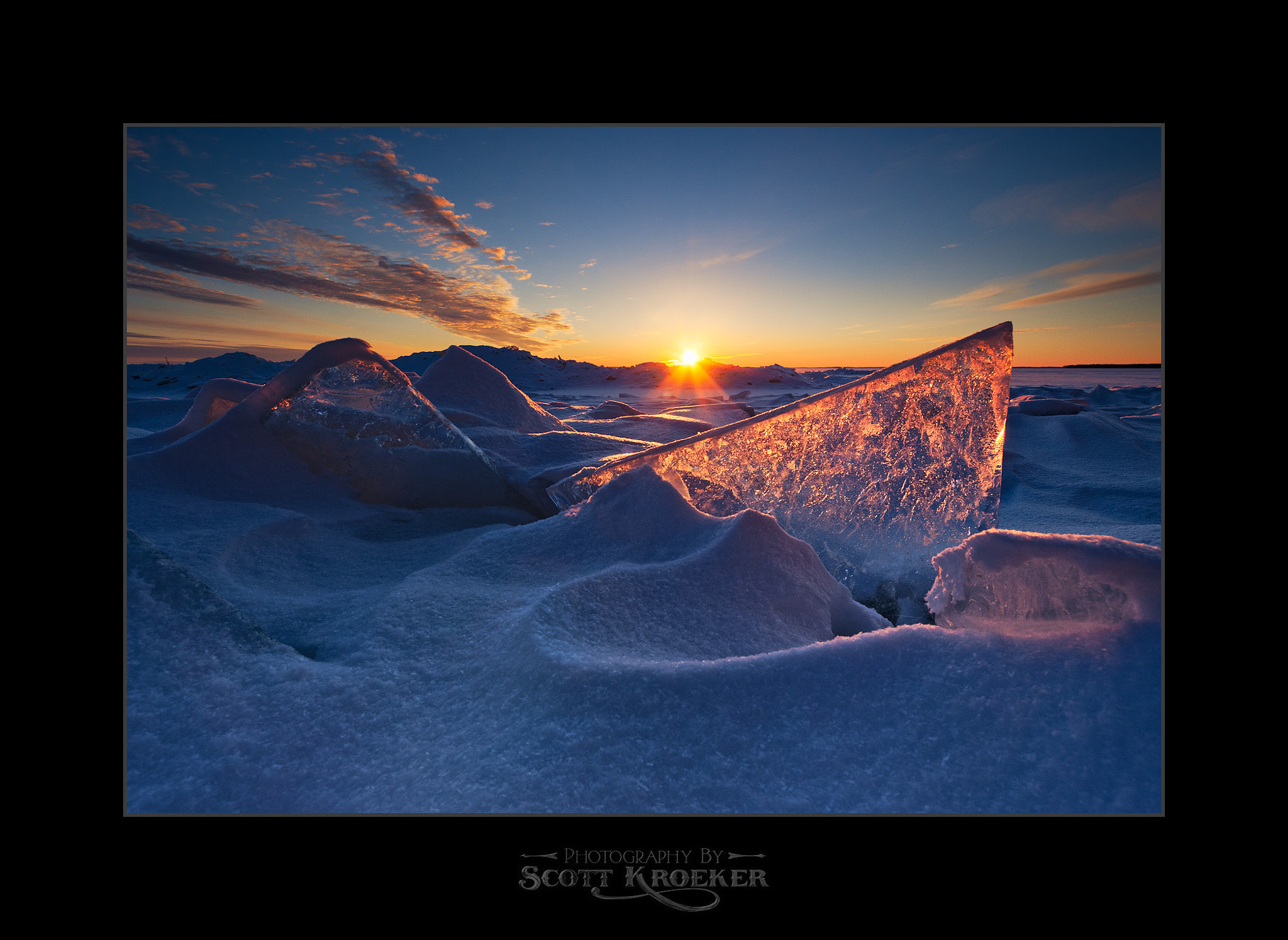 Photograph Plate Ice Sunset by Scott Kroeker on 500px