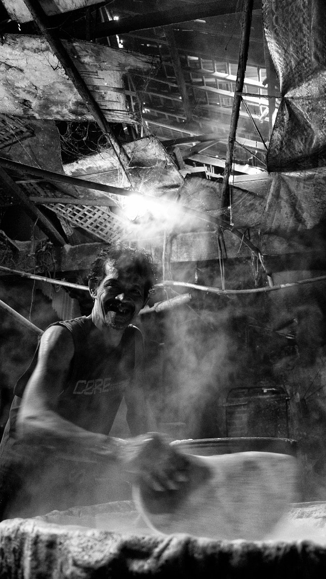 Photograph Smiling Tofu Maker by Barry Wg on 500px