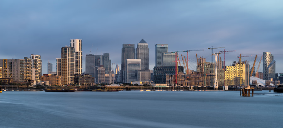 Early morning light, Greenwich Peninsula