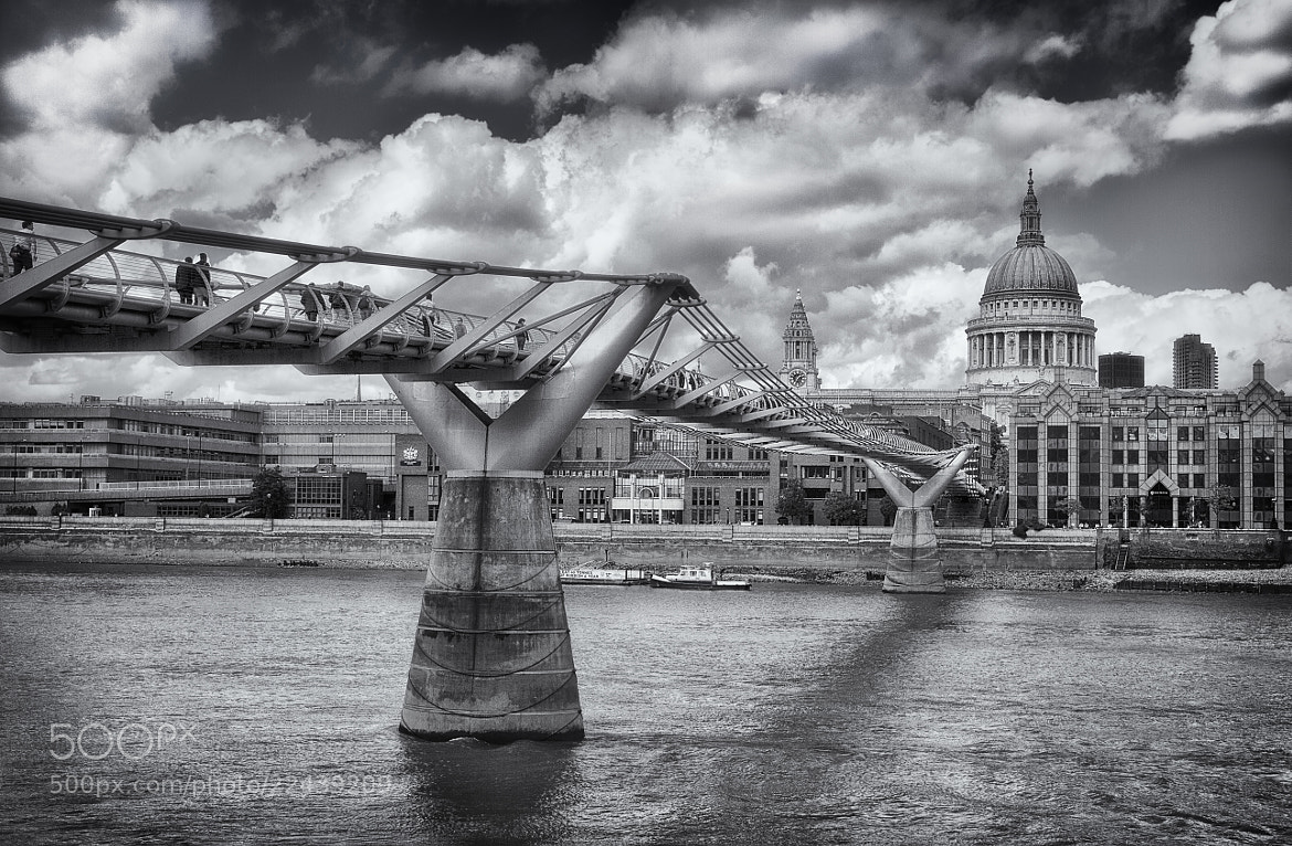 Photograph Millennium Bridge & St. Pauls Cathedral by Kim Andelkovic on 500px