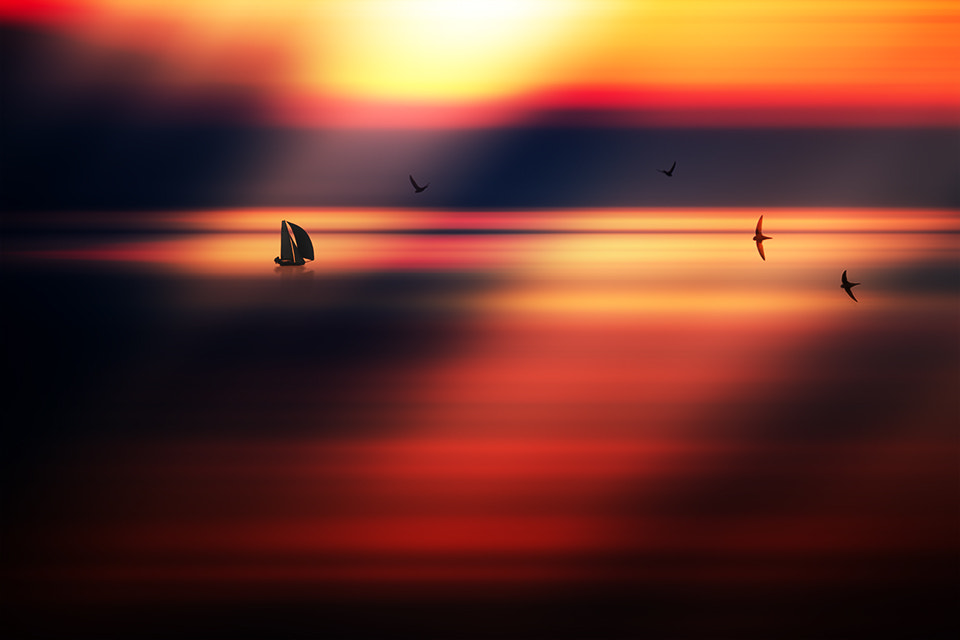 Photograph Sailing boat in the sunset by Marek Czaja on 500px