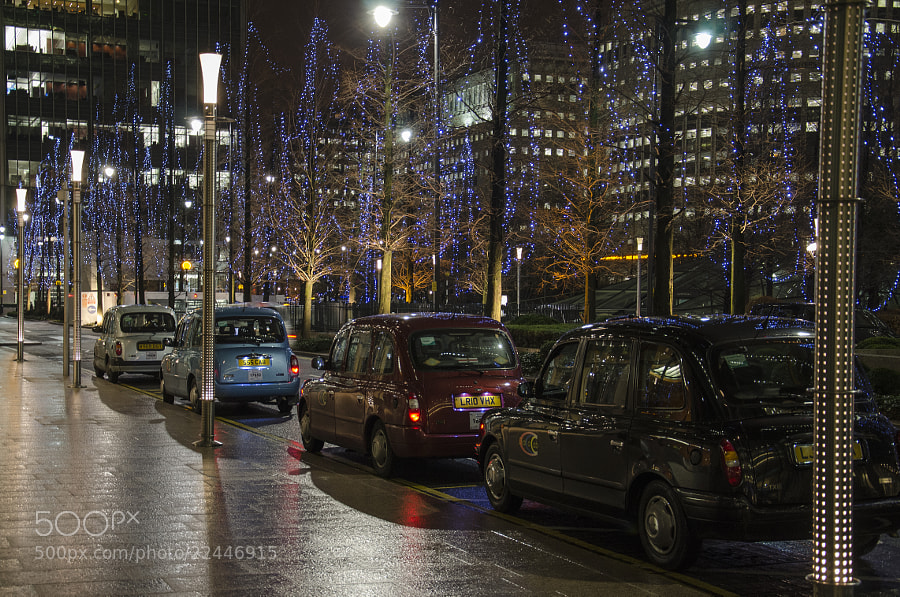 Seasonal Taxi Rank at Canary Wharf, London