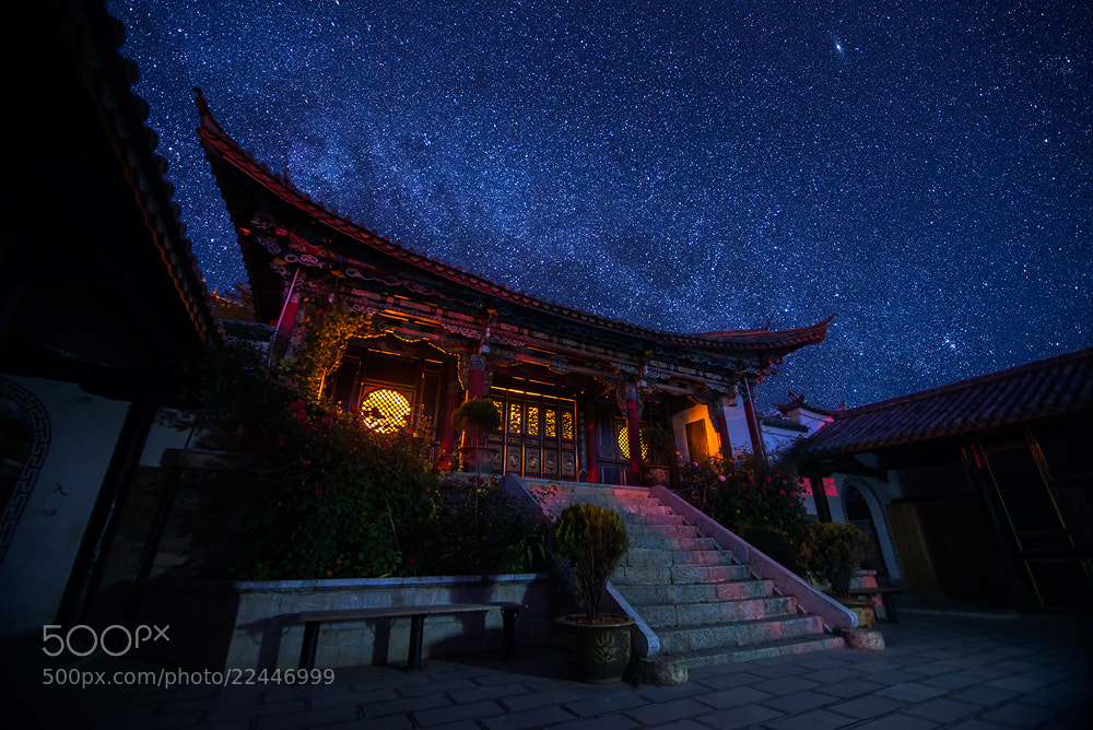 Photograph A dark night in a temple at lijiang by Nutthavood Punpeng on 500px