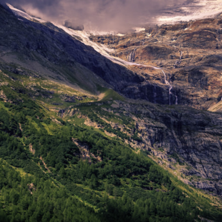 Waterfall on the Swiss Alps