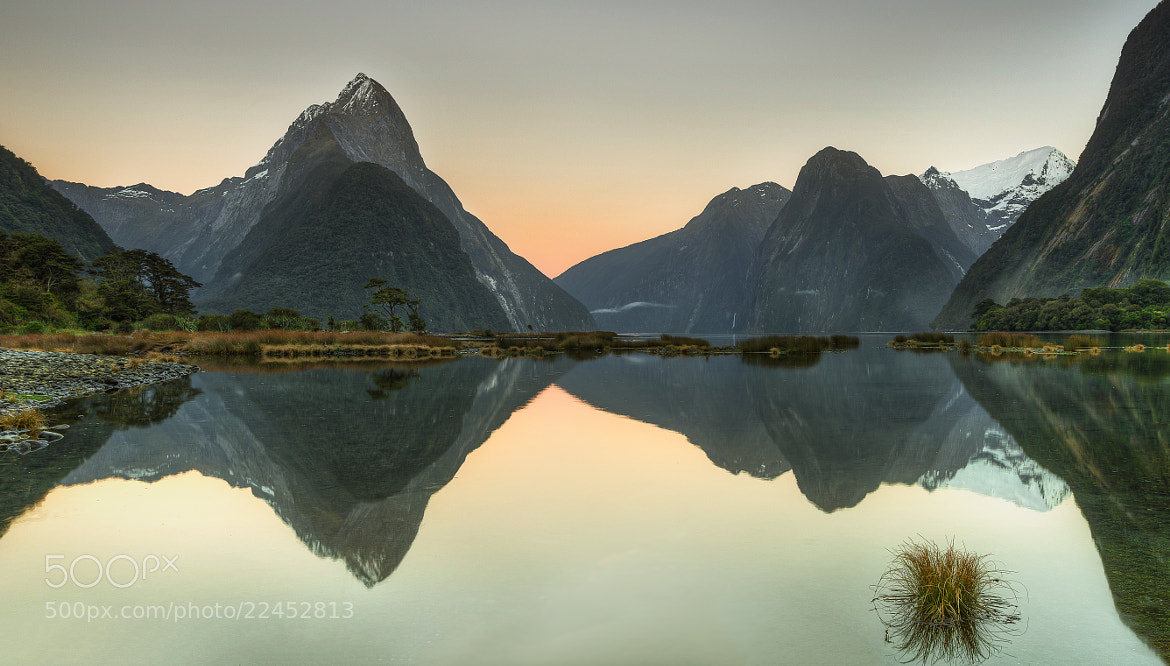 Photograph Morning glow in Milford Sound by Jacob Surland on 500px