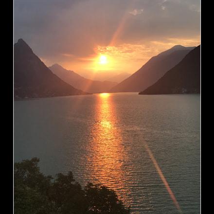 Sunrise in Gandria
