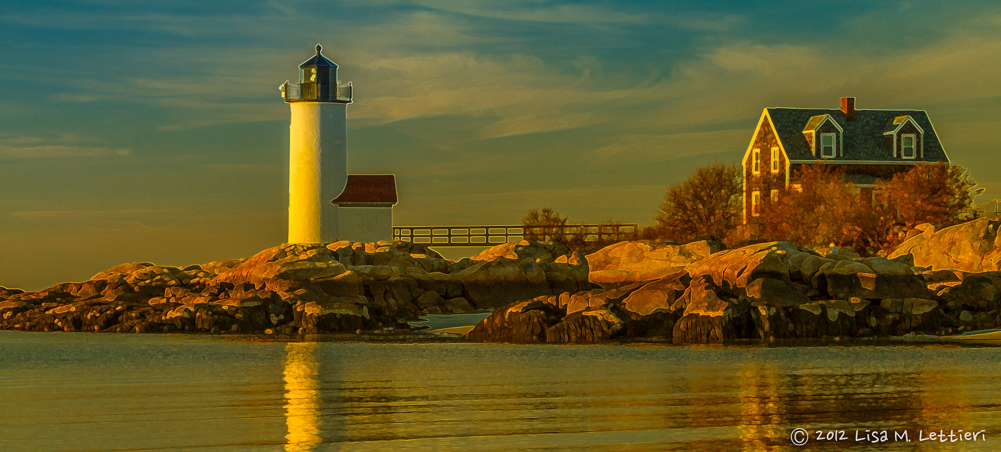 Photograph Sunset at Annisquam Lighthouse - PS Filter Version by Lisa Lettieri on 500px
