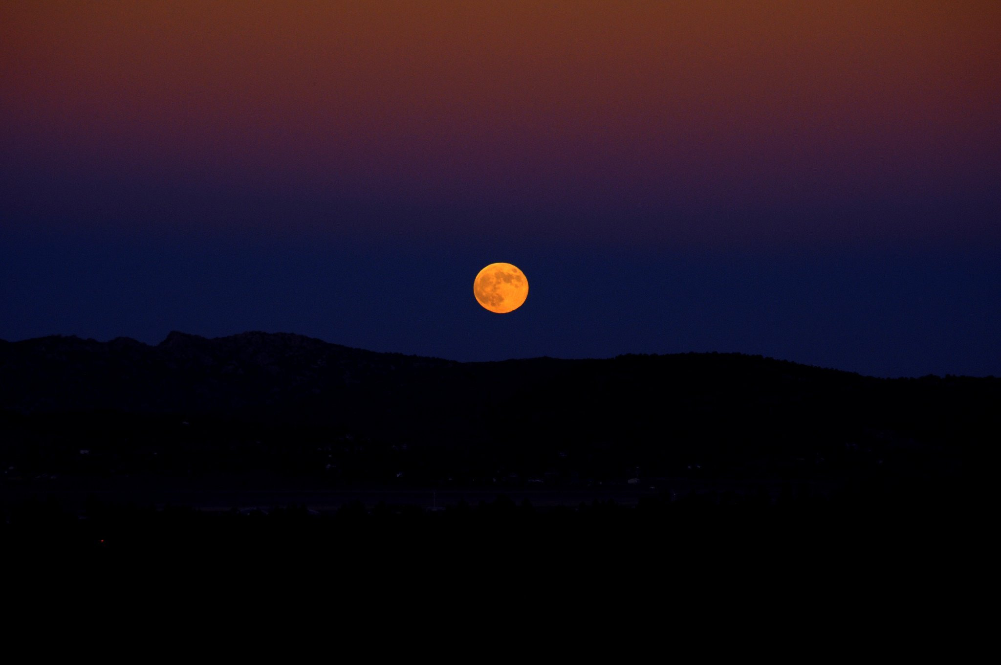 Photograph Beautiful Harvest Moon by Danny Enger on 500px