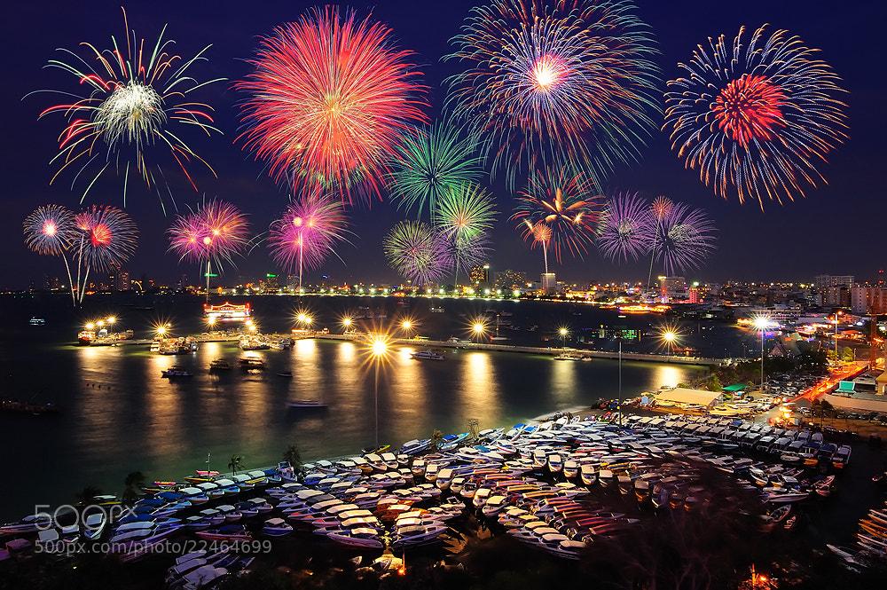 Photograph Pattaya firework festival by Nutthavood Punpeng on 500px