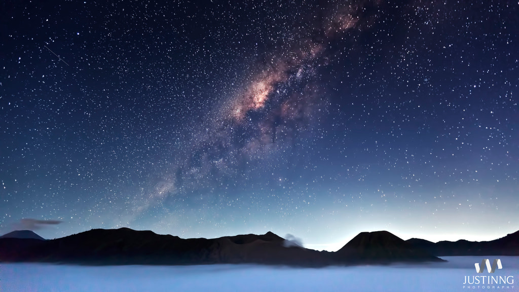 Photograph Milky Way in Mount Bromo by Justin Ng on 500px