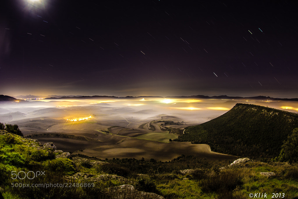 Photograph Night fog by Fernando Garcia on 500px