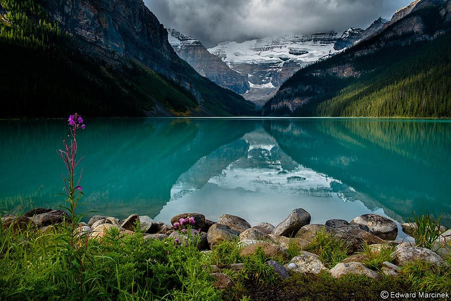 Photograph Loneliness at Lake Louise by Edward Marcinek on 500px