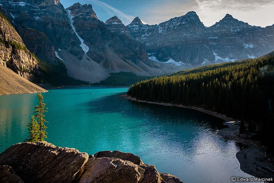 Photograph Moraine Lake at Sunset by Edward Marcinek on 500px