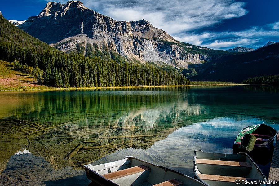 Photograph Emerald Lake Reflection by Edward Marcinek on 500px