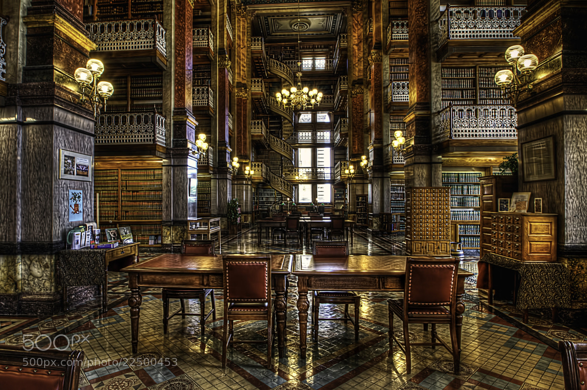 Photograph Des Moines Iowa State Capitol Library by Jason Ellis on 500px