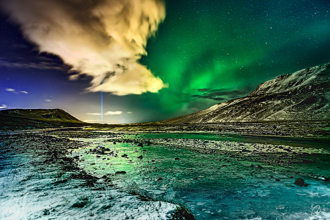 Photograph Peace light in Reykjavik, Iceland by Olinn Thorisson on 500px