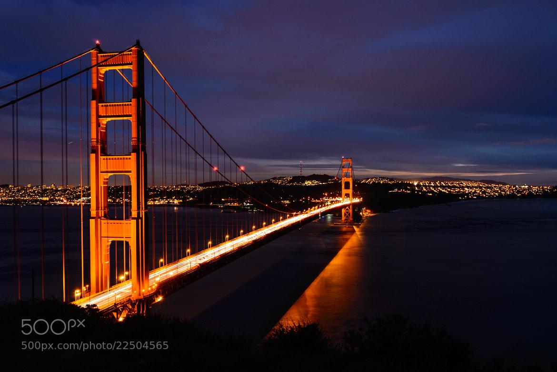 Photograph Golden Gate Bridge at Dusk by rkaika on 500px