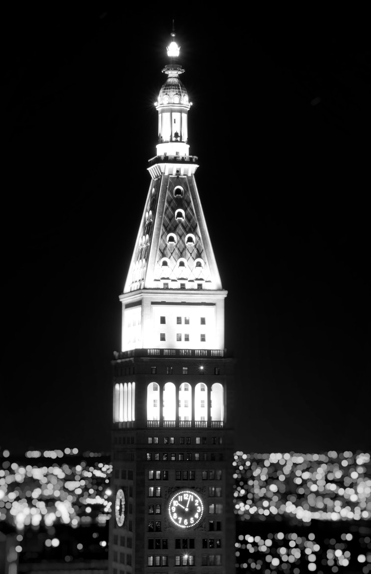 Photograph Tower at Night, Black and White by Dan Goldberger on 500px