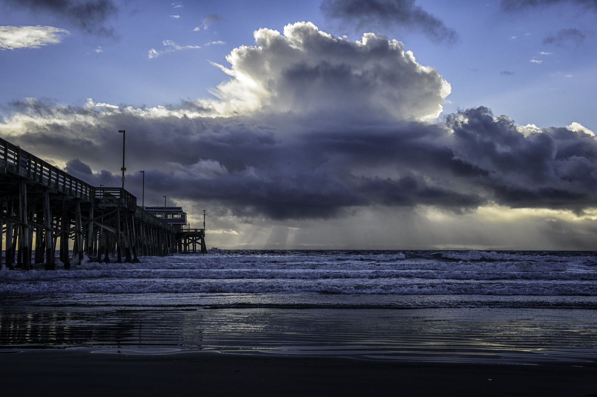 Photograph Pier to the God Rays by Tom Walker on 500px