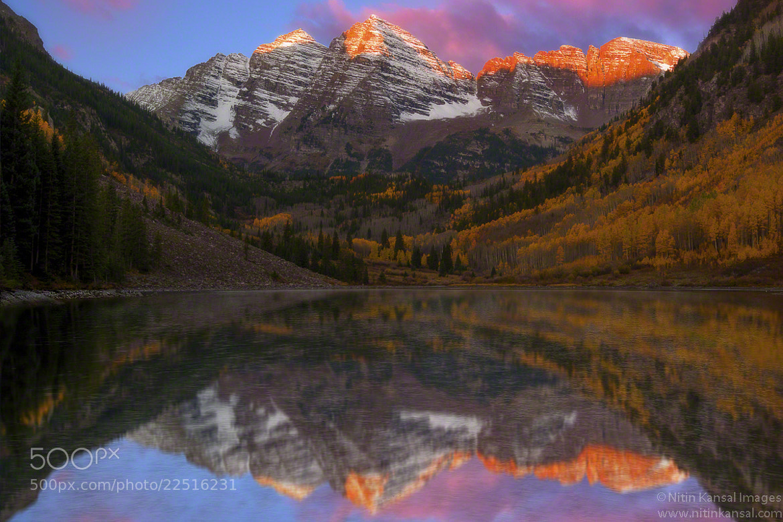 Photograph Maroon Bells Alpine Glow by Nitin Kansal on 500px