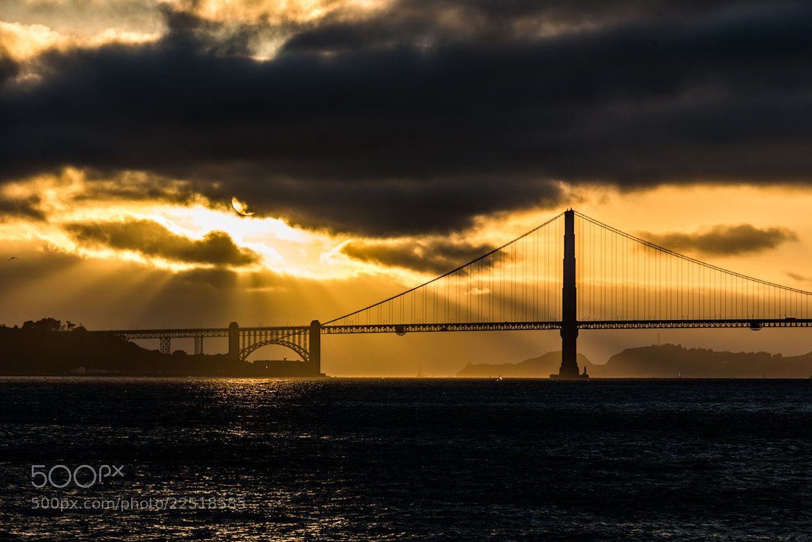 Photograph Golden Bridge Sunset by Mike Kolesnikov on 500px