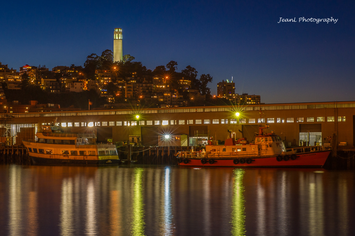 Photograph Coit Tower at night by Jean Li on 500px