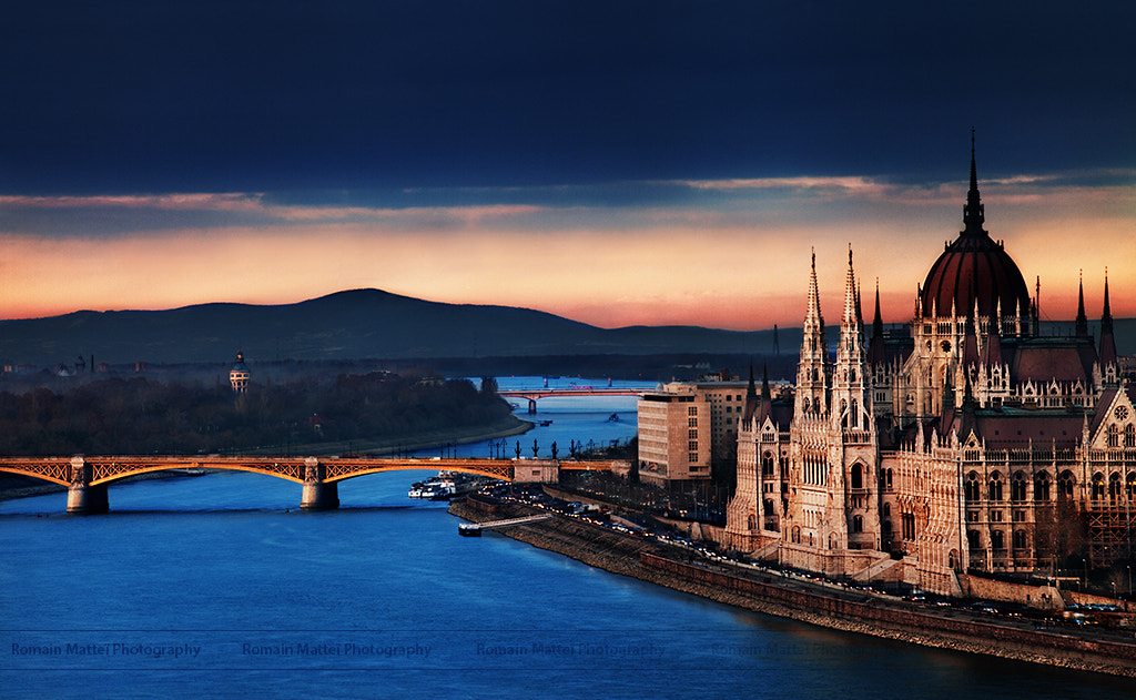 Photograph Hungarian Parliament at Sunset by Romain Matteï on 500px